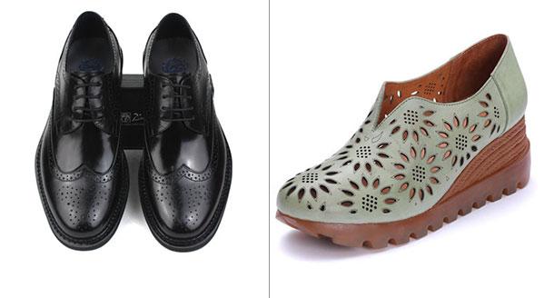 皮鞋激光打孔雕花