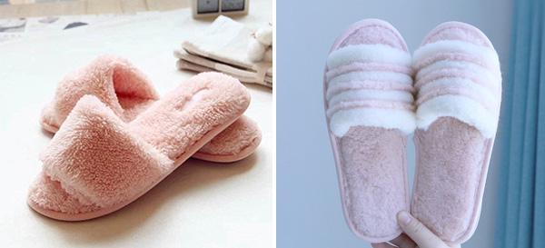 柔软毛绒拖鞋 冬日温暖必备