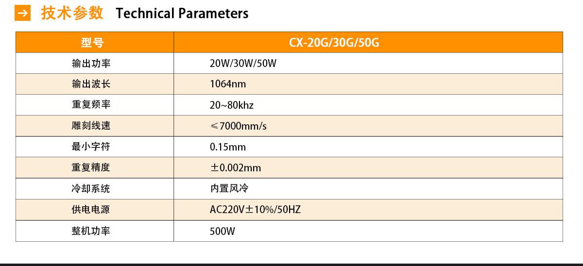 CX-20G光纤打标机