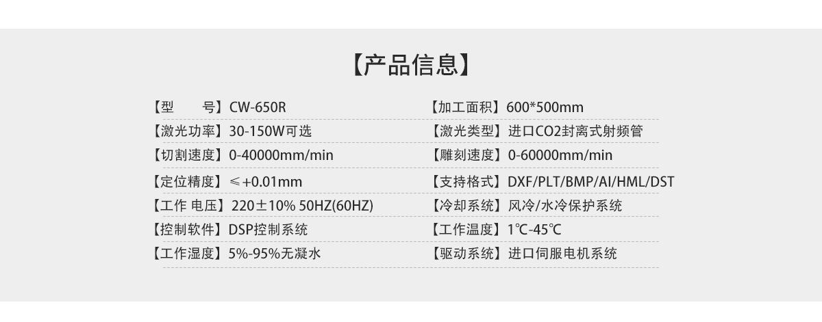 CW-650R水凝胶激光切割机